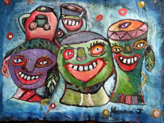 Smiling Drums Painting